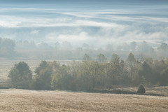 Evaporate (Brian Truono Photography) Tags: cadescove greatsmokymountainsnationalpark nps nationalpark nationalparkservice smokymountains tennessee clouds fields fog foothills frost grass hills landscape light mist morning mountains natural nature sunrise travel trees