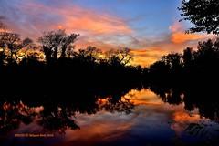 Savica, Zagreb, Croatia (Mladen Perić) Tags: sunce zalazak croatia zagreb savica jezero jesen lijepe boje red nature ribolov šaran