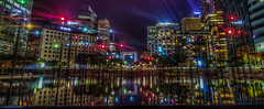 Reflection (Benoit photography) Tags: 2016 beautiful city urban photographer photography photograph images pictures photos fotos bild street lightroom canon photoshop la defense by night blue hour sunset nightrail car light long exposure reflection