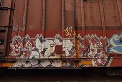 GOODBYE (TheGraffitiHunters) Tags: graffiti graff spray paint street art colorful freight train tracks benching benched goodbye boxcar good bye