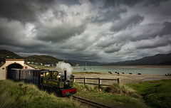 Full steam ahead! (cliveg004) Tags: fairbornerailway fairborne mawddachestuary northwales barmouth dolgellau train narrowgauge sea clouds mountains yeo engine steamtrain