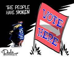 1116 vox populi cartoon (DSL art and photos) Tags: editorialcartoon donlee donaldtrump election voting lowturnout hillaryclinton
