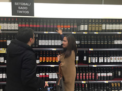 Buying vinho tintos at Continente, serious business (francesbean) Tags: lisboa lisbon portugal europe travel 2016 travel2016 iphone iphonephoto iphone6 abie
