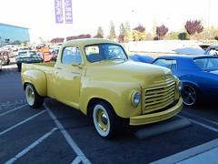 1959 Studebaker  Scotsman  Pickup (Bob the Real Deal) Tags: 1959studebakerscotsmanpickup truck 1959studebakerscotsman 1959studebaker scotsman yellow classic old cool pickup rodsonthebluff fresno fridaynightcruise