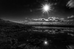 over the Lake (Roman_P2013) Tags: norway norge sun black whit niec view landscape reflection