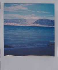 Lake Mead (bowerbirdnest) Tags: desert nevada california death valley deathvalley lakemead polaroid polaroid600 sx70 sx70sonar theimpossibleproject