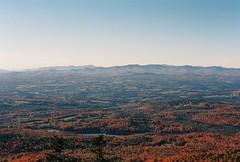 View from the Firetower (Nsharp17) Tags: nikon nikonfe film 35mm kodak ektar ektar100 mountains vermont mountain sprucemountain foliage fall autumn red orange firetower