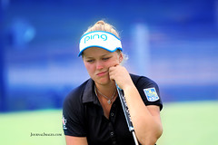 Brooke Henderson Thinks About Putting (journalimages) Tags: brooke henderson lpga golf sports rogers arkansas journal images thinking newsworthy outdoors