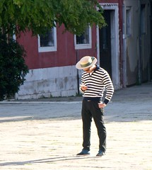 Checking for appointments (jglsongs) Tags: venice venezia italy italia gondolier