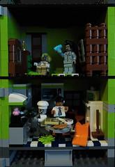 03-Modular Monster House MOC Halloween Edition front view_right (fuggoo) Tags: zombie zombies legozombie lego moc modular monster monsters house halloween pumpkin marilyn monroe elvis presley joker ghost ghosts ghostbusters
