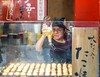 Takoyaki girl (Kostas Trovas) Tags: delicious 50mm portrait action tourism service kostasimages japanesefood cooking streetfood streetphotography octopus canon 6d snack drizzling tasty instagram kiosk girl cook candid travel flickr woman 500px たこ焼き 日本 food yummy japan takoyaki ããç¼ã æ¥æ¬