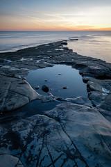 Kimmeridge Bay - England (Nobsta) Tags: fuji xt2 nik colorefex water wasser nikcolorefex rock fels sunset sonnenuntergang dorset england