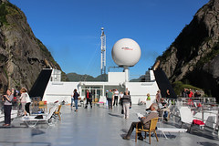 Entering the Trollfjord on a Tourist Ship (12) (Phil Masters) Tags: 21stjuly july2016 norwayholiday norway raftsund raftsundet thetrollfjord trollfjorden trollfjord shipsandboats hurtigruten msspitsbergen tourists