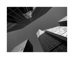I LOVE NEW YORK LXIV (2 Marvelous 4 Words) Tags: nyc ny newyorkcity newyork bw blackwhite light shadows architecture arquitectura sixthavenue 6thavenue skyscraper metlifetower bankofamericatower