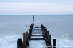 Walcott, North Norfolk (Alexandra Bone Photography) Tags: alexandra alexandrabonephotography bone norfolk photographer wwwalexandrabonecouk walcott sea defences northsea longexposure groyne waves