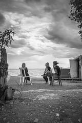 Gipsy family (Vangelis Tzertzinis/GDISTUDIO.COM) Tags: people bw seascape gipsy sky by sea greece family