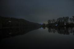 Vltava river (monty1511) Tags: nightlight outdoor photooftheday winter czech czechrepublic lights reflection river vltava trees nature naturephoto hill