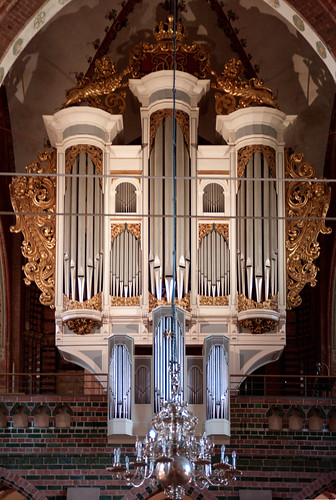 The Organ St. Petri-Dom in Schleswig, Germany
