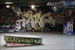 Fare (Alex Ellison) Tags: fare cbm southbank skatepark southlondon urban graffiti graff boobs