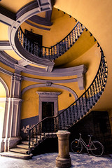 spiral staircase I (born ghost) Tags: architecture budapest colour form interior shape stairs winding