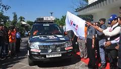 GUWAHATI: Assam Chief Minister Sarbananda Sonowal flagging off the India-Myanmar- Thailand (IMT) car rally in Guwahati on Saturday. (legend_news) Tags: srinagar jammuandkashmir india guwahati assam chief minister sarbananda sonowal flagging off indiamyanmar thailand imt car rally saturday