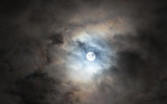 Supermoon through the clouds II (Getting Better Shots) Tags: moon moonlight supermoon clouds nature night