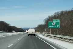 Int80wRoad-Exit111-PA153 (formulanone) Tags: pennsylvania road sign street interstate80 i80 exit111 pa153 153