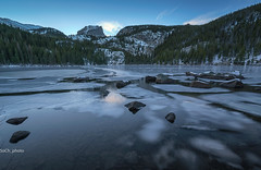 The Slow Thaw (sochhoeung) Tags: lakes bearlake meltingice melting ices longexposure longexpo mountains valley stream tree