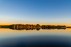 Reflection (ArtDvU) Tags: reflection lake landscape lakescape lakeshore clear sky evening summer sunset finland nikon d7000