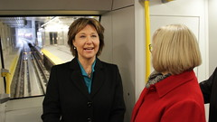 Evergreen extension officially open to the public (BC Gov Photos) Tags: evergreen line transit extension skytrain translink public rapid coquitlam burnaby port moody train station christy clark