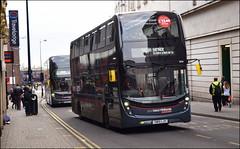 A procession of Platinums (Carrs Lane, Birmingham) (paulburr73) Tags: platinum branding express nxwm nationalexpress westmidlands adl enviro400mmc mmc majormodelchange alexanderdennis 2016 december birmingham carrslane 6754 sn15ljv 6736 6735