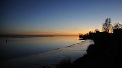 Am 1. Advent in Tnning - die Venus am Abendhimmel ber der Eider; Eiderstedt, Nordfriesland (118) (Chironius) Tags: tnning eiderstedt nordfriesland schleswigholstein deutschland germany allemagne alemania germania  niemcy eider fluss river rivire rio  fiume stream wasserspiegel sonnenuntergang sunset atardecer tramonto zonsondergang  dmmerung dusk schemering crpuscule crepuscolo abend evening abends gegenlicht baum bume tree trees arbre  rbol arbres  rboles albero rvore aa boom trd