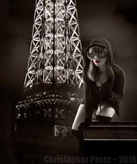 Catwoman ~ Paris, France (Christopher Mark Perez) Tags: catwoman fashion eiffeltower latoureiffel eiffel cosplay anime bandedesinee graphicnovel model parisstrobist strobist sonya6000 sigma30mmf28exdne elinchrombx500ri elinchrom