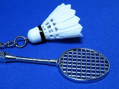 バドミントンラケット&ボール ペア キーホルダー (zeta.masa) Tags: keyring キーホルダー amazon amazoncojp バドミントン badminton シャトル shuttle ラケット racket