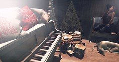 COCOONING HOME (lndya and Leeaker) Tags: moncheri trees pillow thearcade serenitystyle oldpiano bench unitedandkind