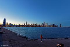 Chicago. (alamsterdam) Tags: chicago picture longexposure sunset lakemichigan adlerplanetarium