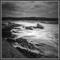 Bare Back (Jo Langtry) Tags: 2016 bareisland canon1635mmf28ii dec2016 focus nisifilters nsw nosun rocks rocksshelves sonya7r sunset clouds coast ocean sydney