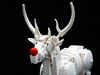 Merry christmas! (Magma guy) Tags: lego stag sculpture animal white monochrome harry potter expecto patronum december happy merry christmas rudolf rudolph what