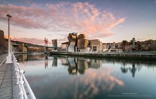 Atardecer en el Guggenheim