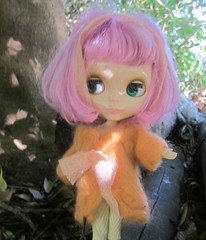 needle felted coat for Blythe