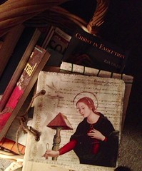 journal and other things (Laurkat9) Tags: stilllife home saint basket journal may grace collection christianity stillness franciscan iphone 2014
