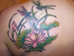 Dragonflies With Flower Tattoo Ideas On Back #125 (tattoos_addict) Tags: flower tattoo back with dragonflies ideas 125 dragontattoo dragontattoos