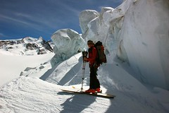 Between seracs (sylweczka) Tags: snow ski mountains alps switzerland tour glacier zermatt pollux skitour sylweczka