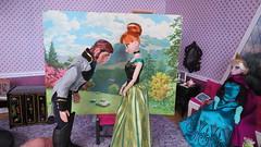 (3) Behind the Scenes -- Frozen (Foxy Belle) Tags: anna make frozen dolls hans disney how behind scenes elsa tutorial diorama