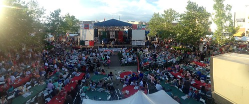 Italian Fest 2014 spotlight tower panorama