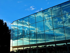 explored escaping clouds (Mattijsje) Tags: blue sky holland netherlands glass clouds reflections mirror shiny utrecht skies nederland mirrors explore rijkswaterstaat escaping explored expl