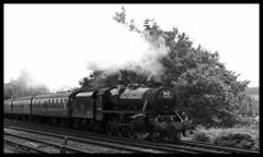 IMGP2500 b (Steve Guess) Tags: uk england black train 5 five engine railway surrey steam gb locomotive weymouth weybridge lms byfleet newhaw 44932 dorsetcoastexpress