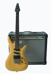 vintage electric guitar and rare vintage amplifier (anekphoto) Tags: life wood old music brown black art yellow rock electric metal neck switch wooden still power control cabinet guitar background amp equipment entertainment musical sound instrument button speaker lea string roll knob amplifier score audio picking strum volume combo pual notation