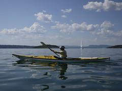 A paddling day (Pivi ) Tags: blue sea mountains norway clouds john islands kayak paddling oslofjord sailingboat
