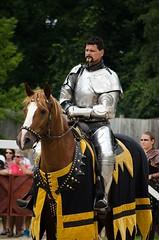 Queen's Joust- Sunday (Pahz) Tags: horse lance sword knight joust bristolrenaissancefaire jousting thejousters matthewmansour sirmaxmillianthejoustingearlofbraden